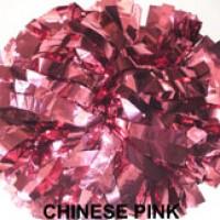 Chinese Pink Metallic Pom Pom