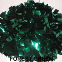 Forest Green Metallic Pom Pom