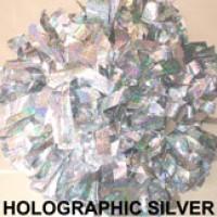 Silver Holographic Pom Pom