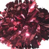 Maroon Metallic Pom Pom