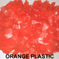 Orange Plastic Pom Pom