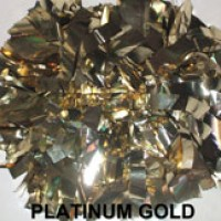 Platinum Gold Metallic Pom Pom