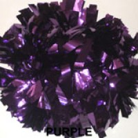 Purple Metallic Pom Pom