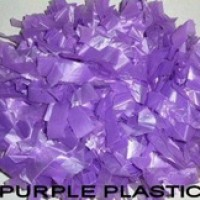 Purple Plastic Pompom