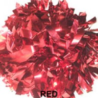 Red Metallic Pom Pom
