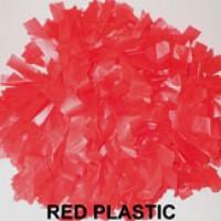 Red Plastic Pom Pom