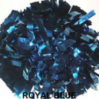 Royal Blue Metallic Pom Pom