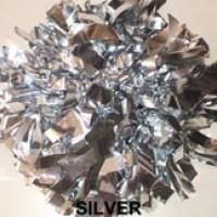Silver Metallic Pom Pom