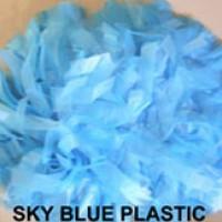 Sky Blue Plastic Pom Pom
