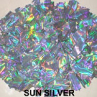 Sun Silver Holographic Pom Pom