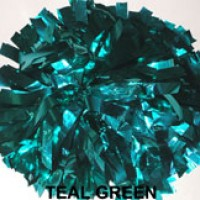 Teal Green Metallic Pom Pom