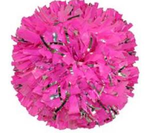 Glitter Pom Poms 2 colour