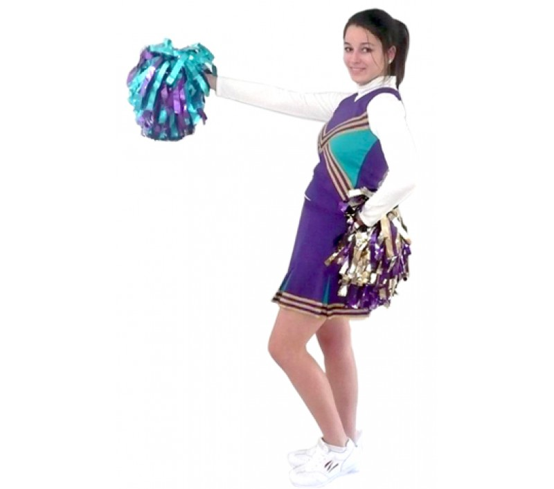 Polyester, poms, bodysuite, custom made socks