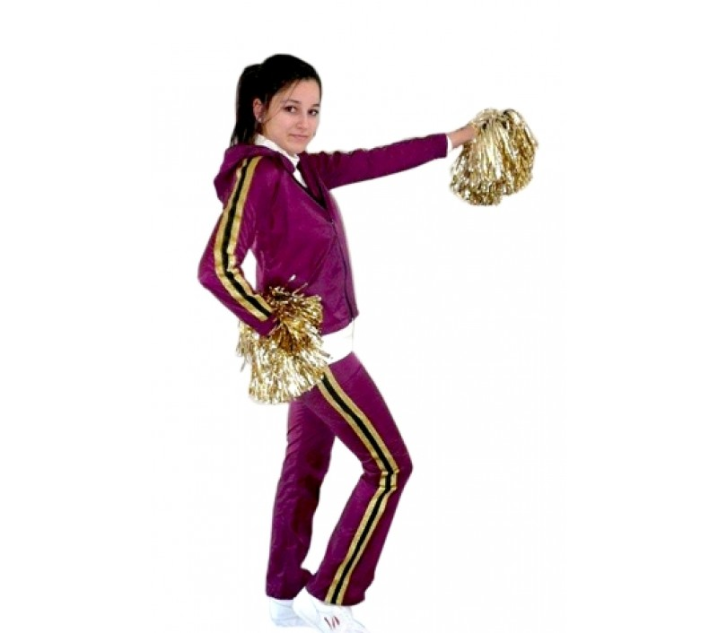 Custom Made Tracksuit, Poms and bodysuit